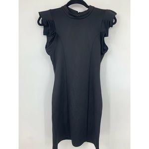Leola Couture small dress open back ruffled